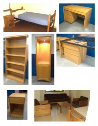 Solid Oak Furniture - Dorm Rooms, 1st Apartments, Kids Rooms!