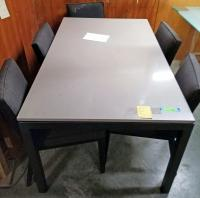 Stone Top Dining Table and Chairs