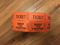 Roll of Coat Check Tickets