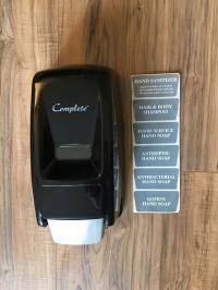 Black Plastic Soap Dispenser