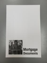 Mortgage Documents Pocket Folder