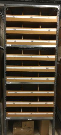 Shelves with Storage/Organizing Bins