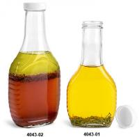 8 oz syrup/dressing bottles with lids (case of 12)